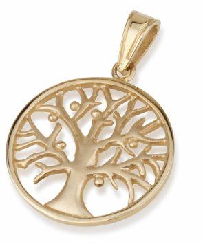 14k gold Tree of Live Pendant