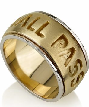 14k Gold This too shell pass spinning Ring