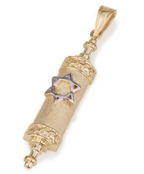 Deluxe 14k Gold Mezuzah Pendant
