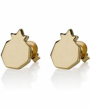 14K Gold Pomegranate Earrings