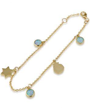 14k gold Jewish Bracelet